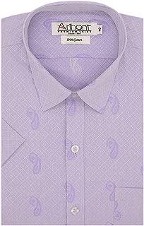 Arihant Paisley Self Design 100% Cotton Half Sleeve Regular Fit Formal Shirt for Men