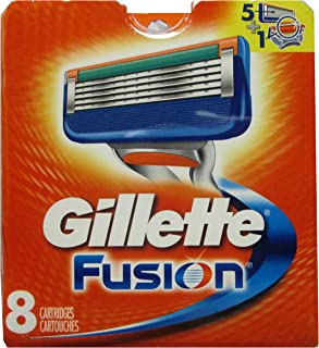 Gillette Fusion Razor Refill Cartridges -Made in USA - (8 Count)
