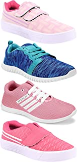 Camfoot Women's (5054-9030-9031-1162) Multicolor Casual Sports Running Shoes (Set of 4 Pair)