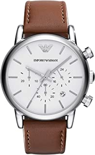Emporio Armani Men's AR1846 Dress Brown Leather Watch
