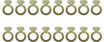 "Beistle 54935 2 Piece Diamond Rings Streamers, 6"" x 6', Multicolor"