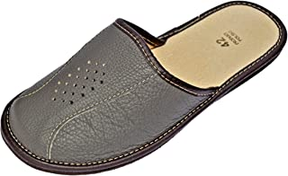 Reindeer Leather Mens Scuff Slippers