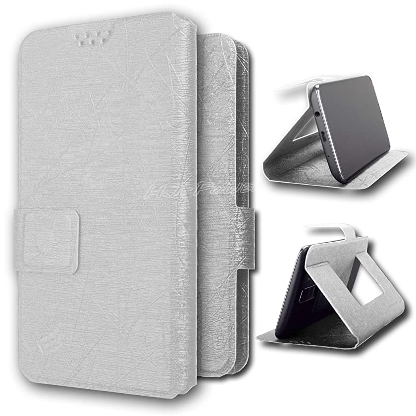 HJ Power[TM] PFC Leather PU Flip Case is Compatible with BLU G9 (Unlocked)- White