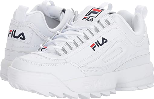 White/Filacnavy/Fila Red
