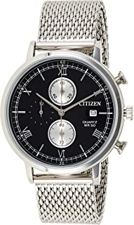 CITIZEN Mens Quartz Watch, Chronograph Display and Stainless Steel Strap - AN3610-80E