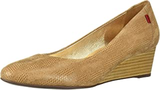 Womens Leather Made in Brazil Cooper Wedge Pump