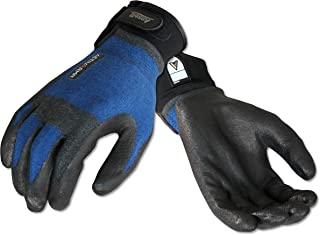 Ansell ActivArmr 97-002 Kevlar/Stainless Steel HVAC Glove, Nitrile Coating, Adjustable Cuff, Medium (Pack of 1 Pair)
