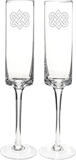 Cathy's Concepts Celtic Knot Contemporary Champagne Flutes