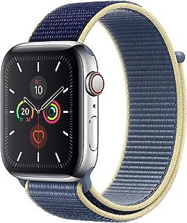 Apple Watch Kordon 38 mm - 40 mm Seri 2 3 4 5 Spor Loop Dokuma Alaska Mavisi