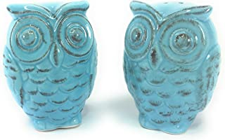 blue owl salt and pepper shakers