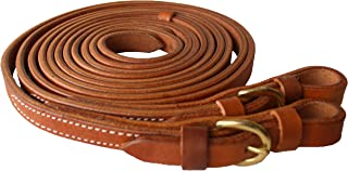 Horse Amish Western Hermann Oak Leather Brass Buckle Reins 975H3473