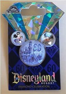 Disneyland 60th Anniversary Diamond Celebration Stone Mickey Ears Icon Trading Pin