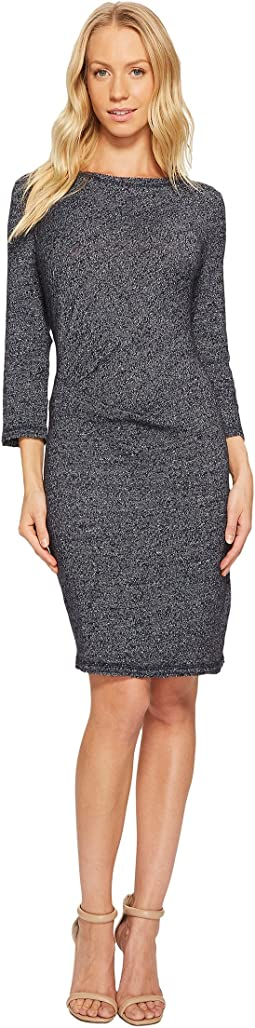 Three Dots - Marled Slub Pleated Dress