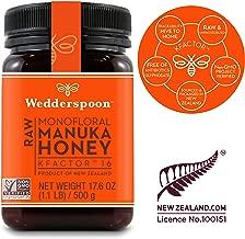 Wedderspoon Raw Premium Manuka Honey KFactor 16, 17.6 Oz, Unpasteurized, Genuine New Zealand Honey, Multi-Functional, Non-GMO Superfood