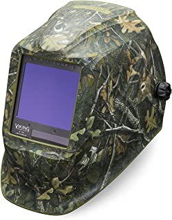 Welding Helmet, Camouflage Graphic, Green