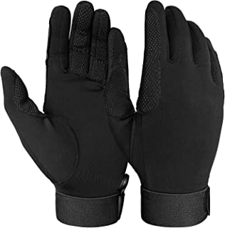 FitsT4 Horse Riding Gloves Equestrian Outdoor Breathable Stretchable Horse Show Glove for Women Men