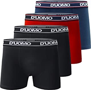 Kit com 4 Cuecas Boxer Básico, Duomo, Masculino