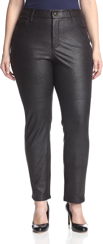 NYDJ Plus Women's Sheri Skinny Jean, Black, 22W US