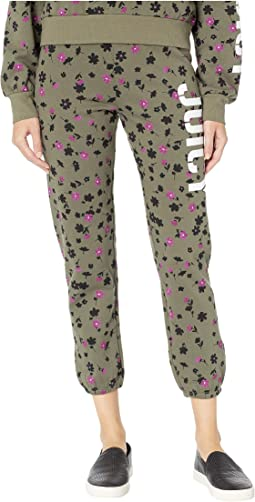 Juicy Floral Print Stencil Logo Pants