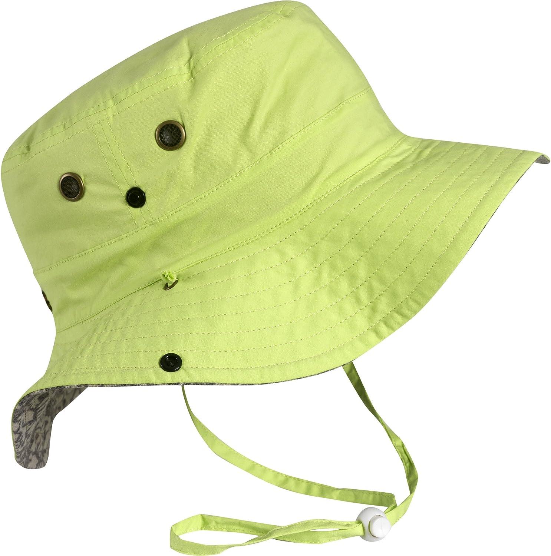 Turtle Fur Women's Bonnie, Reversible Lightweight Boonie Sun Hat, Lime