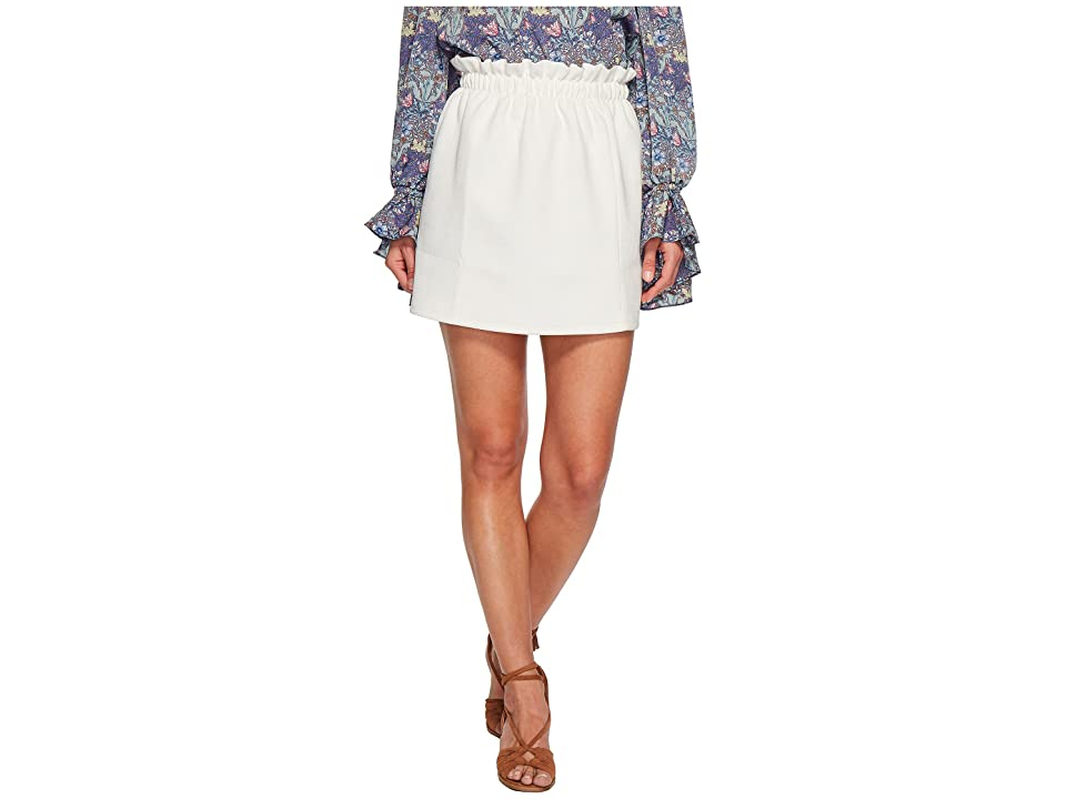 Bishop + Young Paperbag Mini Skirt (White) Women