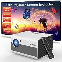 Sponsored Ad - Mini Projector, BIGASUO 2021 Native 1080P Projector Bluetooth Support, 7000L Portable Projector with Digita...