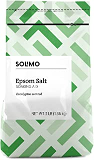 Amazon Brand - Solimo Epsom Salt Soaking Aid, Eucalyptus Scented, 3 Pound