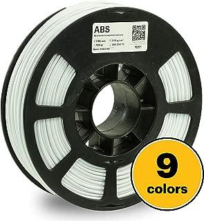 KODAK 3D printer filament ABS WHITE color, +/- 0.03 mm, 750g (1.6lbs) Spool, 2.85 mm. Lowest moisture premium filament in Vacuum Sealed Aluminum Ziploc bag with Silica Gel. Fit Most FDM Printers