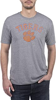 Top of the World NCAA Mens Modern Fit Premium Tri-Blend Short Sleeve Gray Heather Distressed Mascot Tee