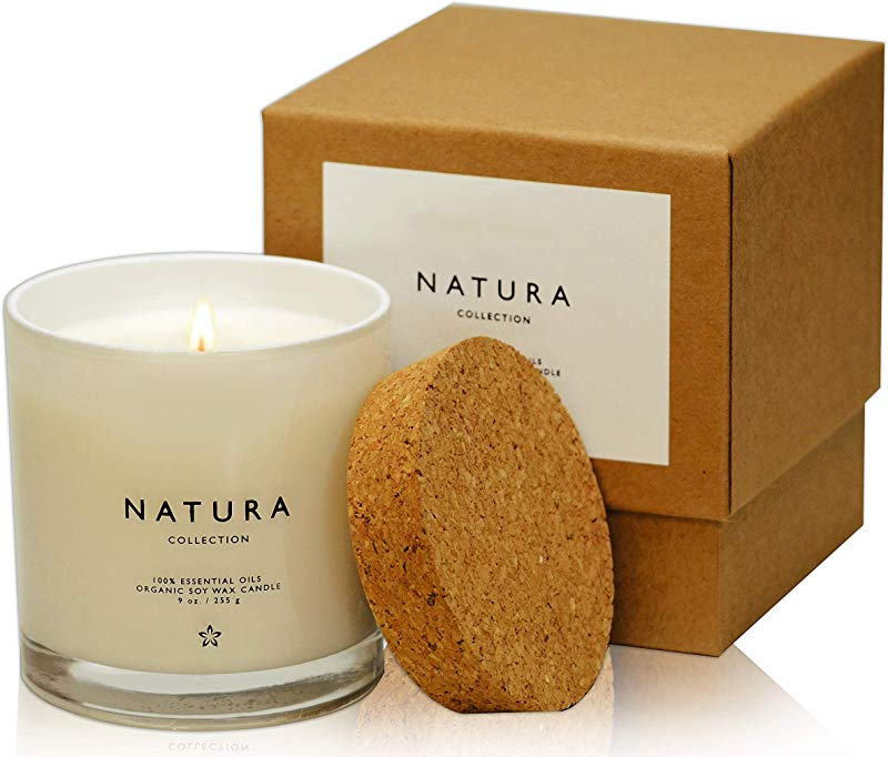 Lulu Candles Natura 100 Organic Soy Vegan Wax Candle With 100 Belgium Lavender Organic Essential Oil 100 Cotton Lead Free Wicks Paraffin Free Paraben Phthalate Free Eco Friendly