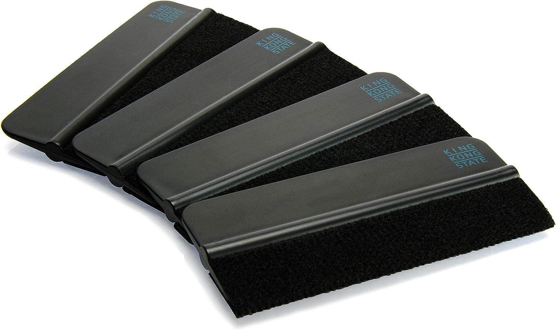 Set di 4 raschietti con bordo in feltro King Kong State 10 x 4,5 cm
