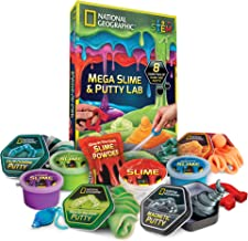 NATIONAL GEOGRAPHIC Mega Slime Kit & Putty Lab - 4 Types of Amazing Slime For Girls & Boys Plus 4 Types of Putty Including...