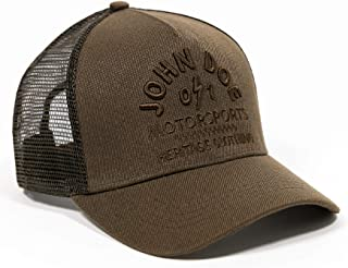 John Doe Trucker Cap - Baseballcap mit Baumwolle - Basecap mit Markenstickerei - Snapback Cap mit Mesh-Einsatz - Schirmmütze Winter/Sommer - Truckercap