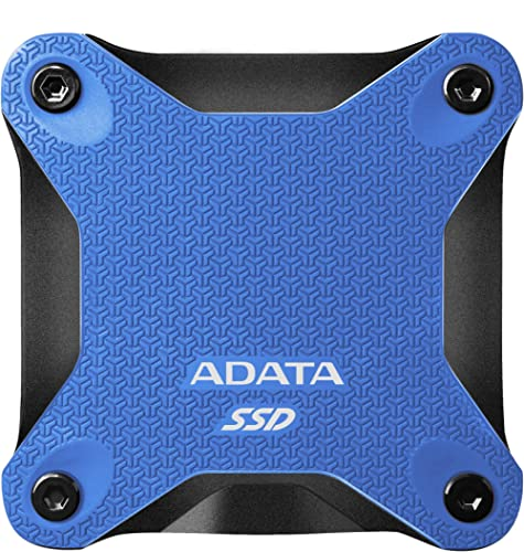 ADATA SD600Q 240GB Military Grade Light Compact Portable External SSD Solid State Drive (Blue)
