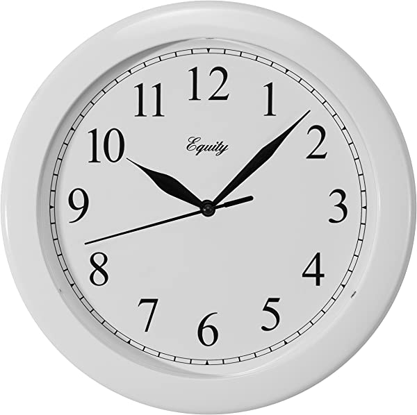 Equity By La Crosse 25201 10 Inch White Clock
