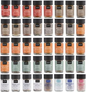 NOMU 40-Piece Complete Variety Set of Spices, Herbs, Seasoning Blends & Finishing Salts Range | Non-irradiated, No MSG or Preservatives