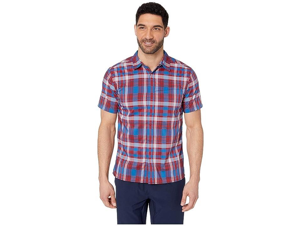 Royal Robbins Monument Plaid Short Sleeve Shirt (Dahlia Red) Men