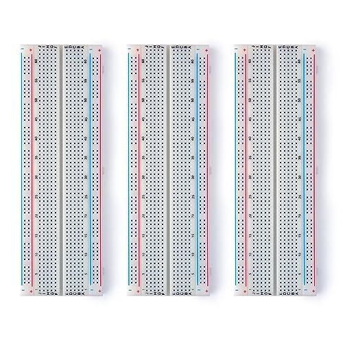 Neuftech 3x MB-102 Breadboard Experimental Protoboard 830 puntos de contacto para Raspberry Pi Arduino