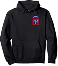 US Army 82nd Airborne Insignia Military Paratrooper Vintage Pullover Hoodie