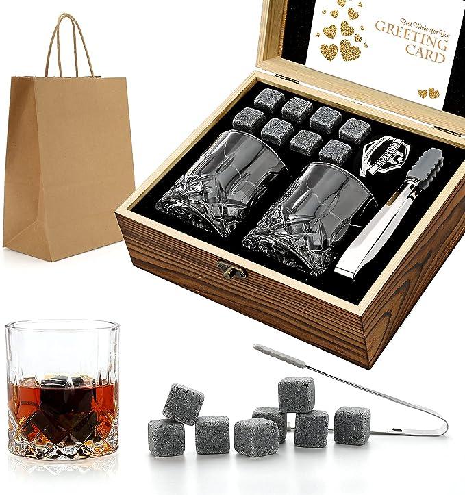 848 opinioni per Set da regalo di pietre e bicchieri di whisky, pietre di whisky pietre da
