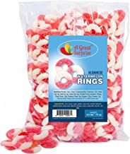 Watermelon Rings – Gummy Rings – Pink Candy – Bulk Candy – 4.5 LB
