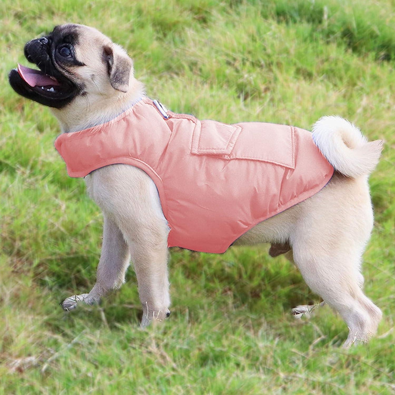 KINGLEAD Impermeable Abrigo para Perros Chaqueta abrigadora de Invierno,Chaleco Impermeable de Doble Cara para Mascotas,Ropa Impermeable para Perros,Adecuado para Perros peque/ños y medianos