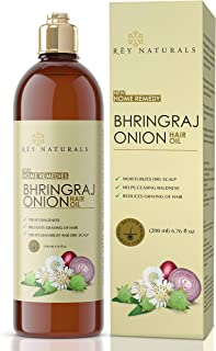 Rey Naturals Bhringraj oil with Onion extract For Hair Strengthening, Anti-hair Fall, Split-ends - 200 ml
