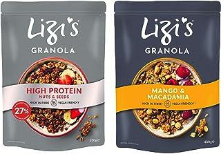 Lizi's Granola High Protein, 350 gm + Mango Macadamia, 400 gm, Pack of 2