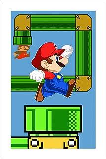 Plaid Design Super Mario Bros Fine Art Print - 11x17 - Signed/Numbered Limited Edition Pop Art Giclée - Artwork by John Lathrop