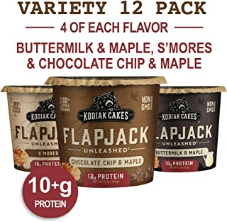 Kodiak Cakes Protein Pancake On The Go Flapjack Cups Mix; Buttermilk, Chocolate Chip, & S'mores Variety Pack