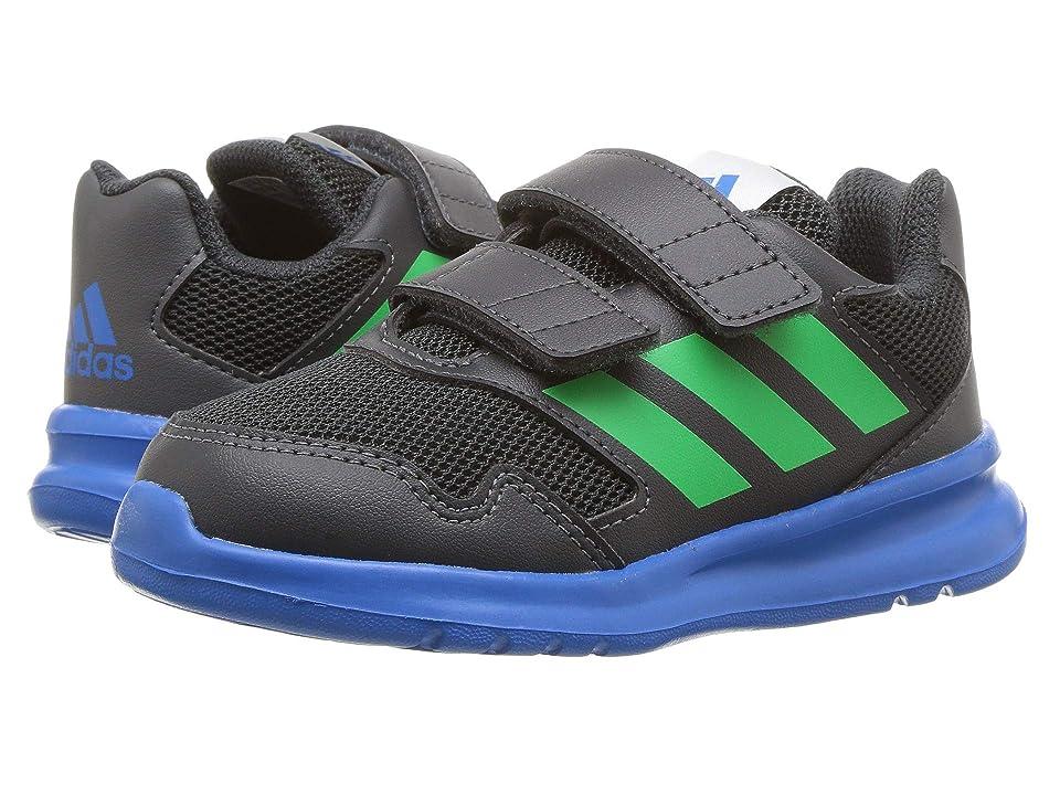 adidas Kids AltaRun (Toddler) (Carbon/Vivid Green/Bright Blue) Boys Shoes