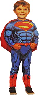 Superman Muscle Chest Costume with Cape. 3T - 4T