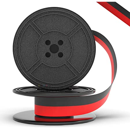 Tower Commander Typewriter Ribbon 2 Pack - Solid Black + 1 1 Black and Red