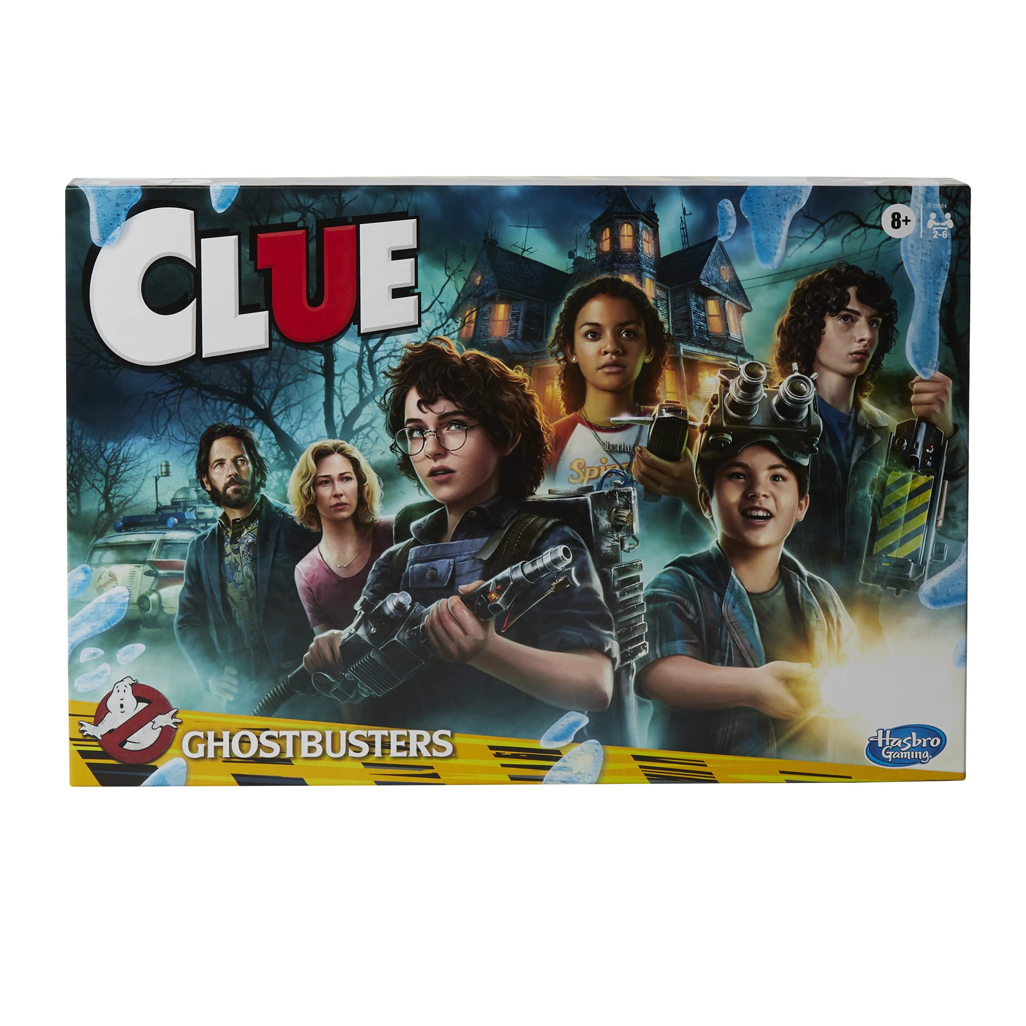 Hasbro Gaming Clue: Ghostbusters Edition Game, Cooperative Board Game for Kids Ages 8 and Up; Players Can Team Up to Battle Ghosts